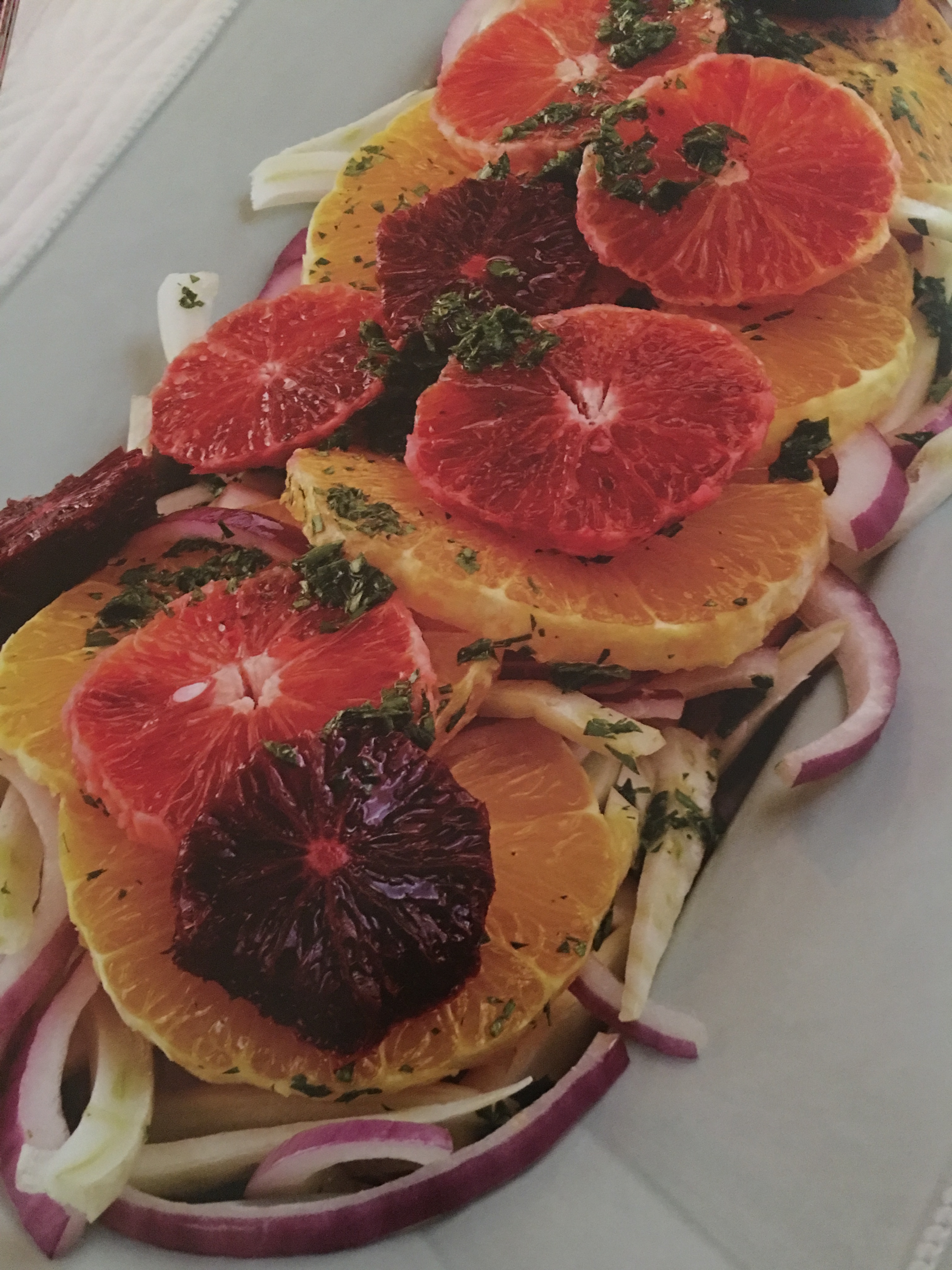 fennel and blood orange